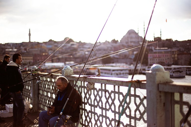 Galata Bridge- fishing