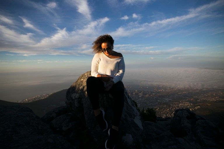 Alisa on top of the world- Table Mountain